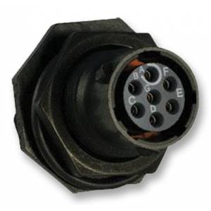 Circular, receptacle, 7 way, jam nut, UTS710E7S