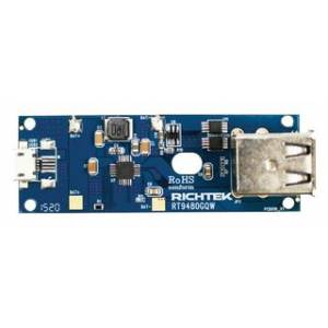 Eval board, rt9480 dual o/p power bank, EVB_RT9480GQW