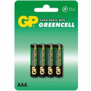 Patarei AAA R3 1.5V Greencell GP 4tk