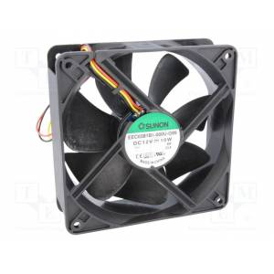 Ventilaator 120x120x38mm 12VDC 9.6W ball 3100rpm 48dB 3-juh.