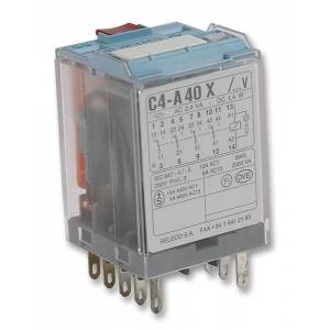 Relay, 14 pin, 4pco, 230vac,C4-A40X230A
