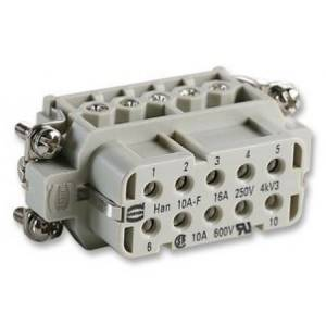 0920 010 2812: socket, han10a 10way &e (harting)