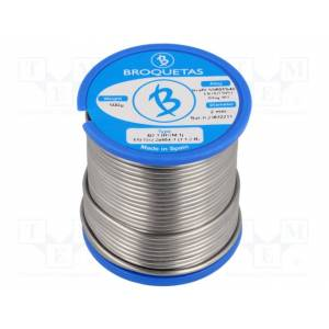 Solder, sn60pb40, wire, 2mm, 500g, flux, f-sw26,no clean, 2.