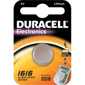 CR1616 Duracell liitium patarei 3V 16mm 1.6mm