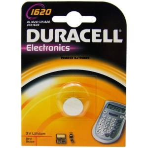 CR1620 Duracell liitium patarei 3V 16mm 2.0mm