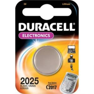 CR2025 Duracell liitium patarei 3V 20mm 2.5mm