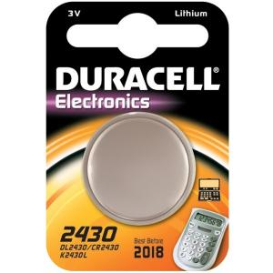 CR2430 Duracell liitium patarei 3V 24.5mm 3mm