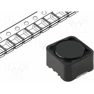 Inductor, wire, 22uh, 5a, 0.39mΩ, smd, 12x12x10mm, ±20%, -40÷