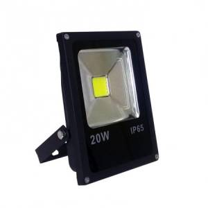 LED prozektor 20W 6000K 1400lm, must, IP65, Slim Line