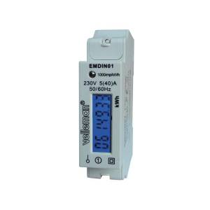 Single phase - single module din-rail mount kwh meter