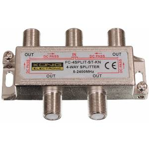 4-way splitter 5-2400MHz ZLA0637