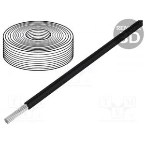 Wire; SiF; stranded; Cu; 0.25mm2; silicone; black; -60&divid