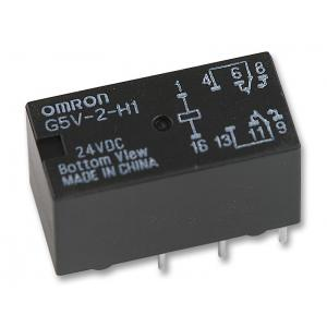 OMRON - G5V-2-H1 24DC - Signal Relay, 24 VDC, DPDT, 1 A, G5V-2 Series, Through Hole, Non Latching