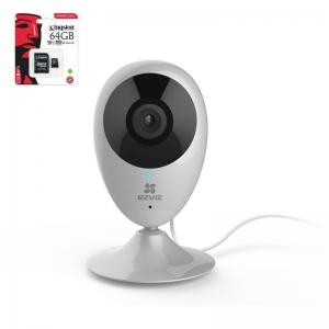 EZVIZ C2super Wifi kaamera 2MP +64GB SD kaart