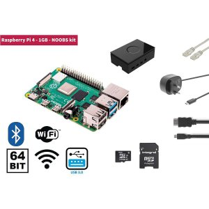 Raspberry Pi 4 1 Gb Starter Kit + Noobs Software Tool, Raspb