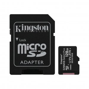 Mälukaart 128GB Micro SD Class10 Kingston Canvas Select Plus