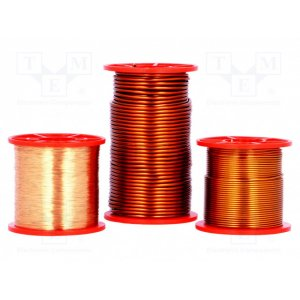 Coil wire; double coated enamelled; 0.2mm; 0,25kg; max.200&d
