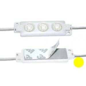 LED moodul 3xSMD5050 12V 0.55W kollane IP65 20*70mm