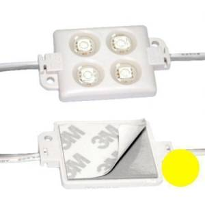 LED moodul 4xSMD5050 12V 1W kollane IP65 33*65mm