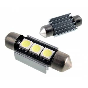 LED lamp C5W Festoon 36mm 12V 0.65W 45lm valge 6500K Canbus