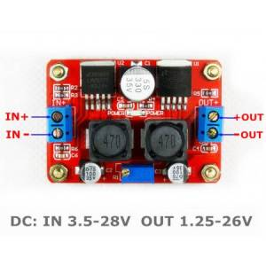 Toitemoodul DC/DC step-down/up 3.5...28V/1.25...26V 1A