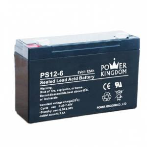 Pliiaku 6V 12Ah 151*50*94mm klemm 4.75mm Power Kingdom, Ironcell