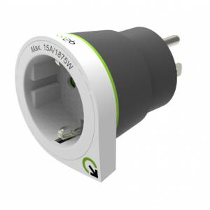 Reisiadapter US pistik EUR pesa Q2Power Europe to US