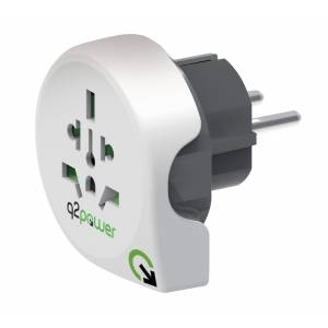 Reisiadapter EUR pistik, Q2Power World to Europe