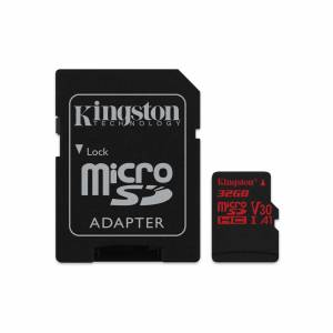 Mälukaart 32GB Micro SDHC UHS-I U3 Kingston Canvas React