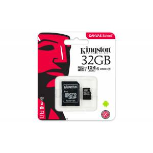 Mälukaart 32GB Micro SD Class10 Kingston Canvas Select