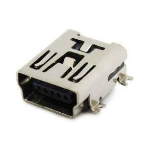 USB mini B pesa plaadile 5-pin SMD