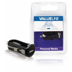 Car Charger 1-output 2.1 A Usb Black, Valueline