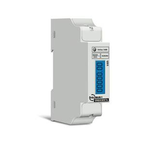 Velbus - Single-phase DIN rail kWh meter  - 1 din module