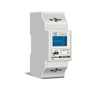 Velbus - Single-phase DIN rail kWh meter - 2 din modules