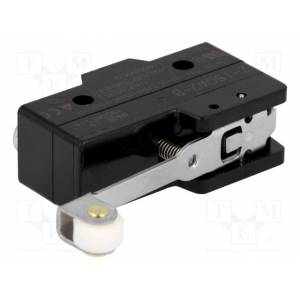 Microswitch, with lever (with roller), spdt, 15a/250vac, on-