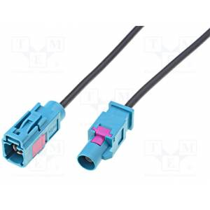 Extension cable for antenna; Fakra socket, Fakra plug; 1m