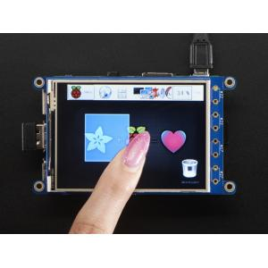 "PiTFT Plus 320x240 3.2"" TFT + Resistive Touchscreen"