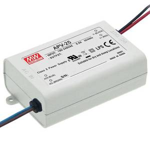 Toiteplokk 12VDC 2.1A 25.2W SMPS Mean Well APV-25