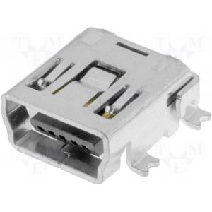 USB mini B pesa plaadile 5-pin