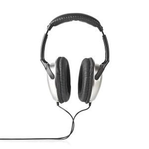 Over-ear Headphones | Wired 6.00 M | Silver/black, Nedis