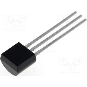 Voltage regulator; fixed; 15V; 0.1A; TO92; THT; Package: bulk