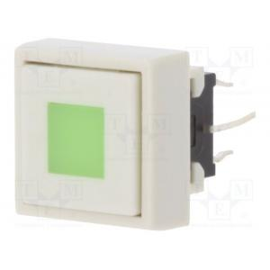 Switch: keypad; Positions: 2; DPDT; 0.1A/30VDC; white; Illumin: LED