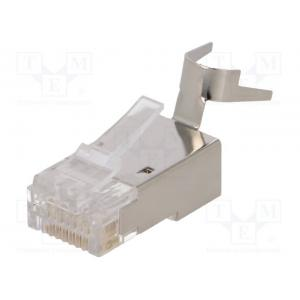 Plug; RJ45; PIN: 8; Cat: 6,6a,7,7a; shielded; Pin layout: 8p8c; male