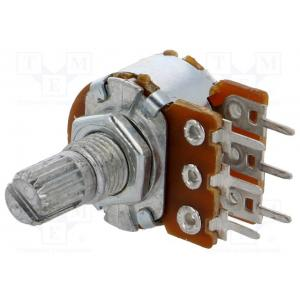 Potentiometer: shaft; single turn; 5kΩ; 63mW; ±20%; THT; 6mm; metal