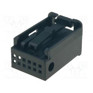Housing cap; plug; Quadlock 12pin; black; Works with: 770010