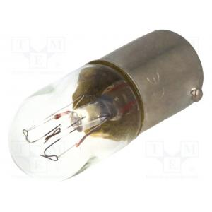 Filament lamp: miniature; BA9S; 130VAC; 20mA; 2W