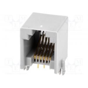 Socket; RJ12; PIN: 6; Contacts: phosphor bronze; gold-plated; THT