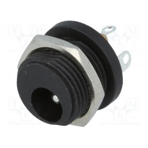 Socket; DC supply; male; 5,5/2,1mm; 5.5mm; 2.1mm; soldering