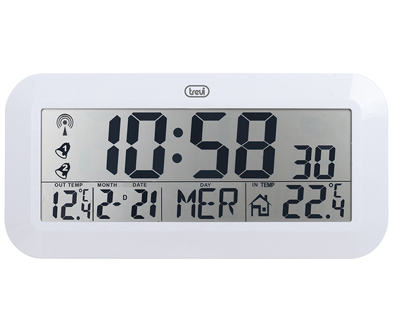 72f778d7d83 Suur seinakell ilmajaam valge RF LCD 420*200mm, DCF Trevi - Oomipood